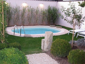 Stahlwand-Pool